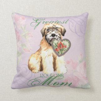 Wheaten Heart Mom Throw Pillow