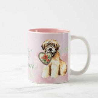 Wheaten Heart Mom Two-Tone Coffee Mug