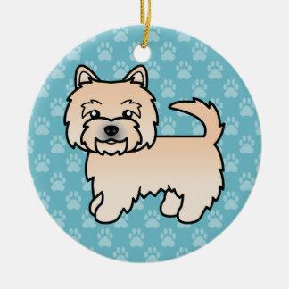 Wheaten Norwich Terrier Cartoon Dog Ceramic Ornament