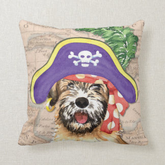 Wheaten Pirate Throw Pillow