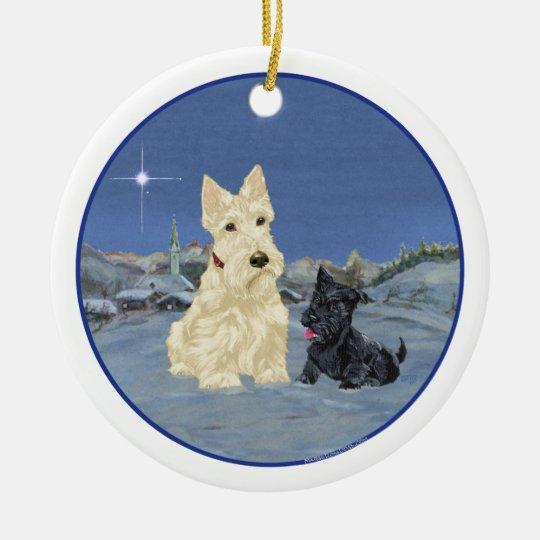 Wheaten Scottie Dog Ornament