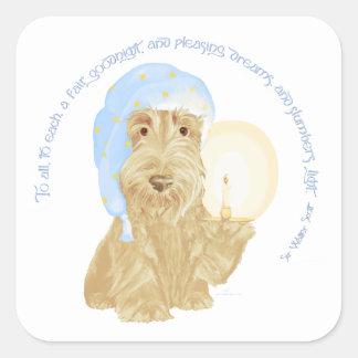 Wheaten Scottie Goodnight Square Sticker