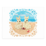 Wheaten Scotties at the Beach Postcards