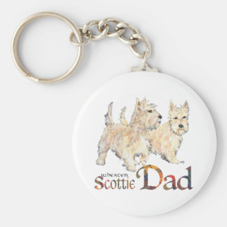 Wheaten Scotties Celebrate Father's Day Keychains