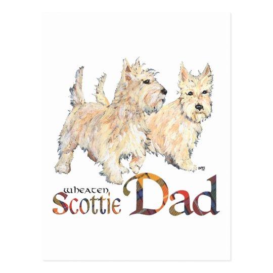 Wheaten Scotties Celebrate Father's Day Postcard