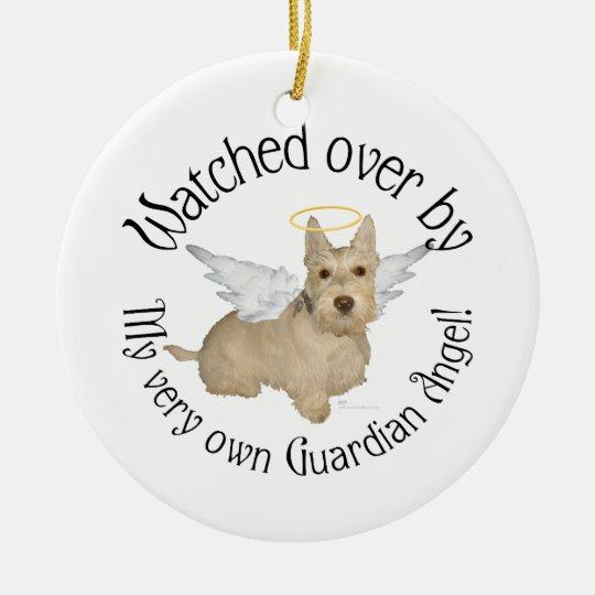 Wheaten Scottish Terrier Angel Ornament