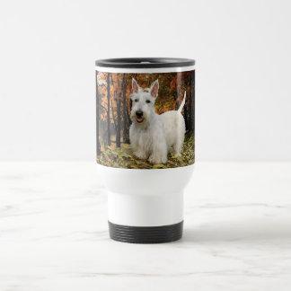 Wheaten Scottish Terrier Autumn Travel Mug