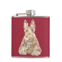 Wheaten Scottish Terrier Flask