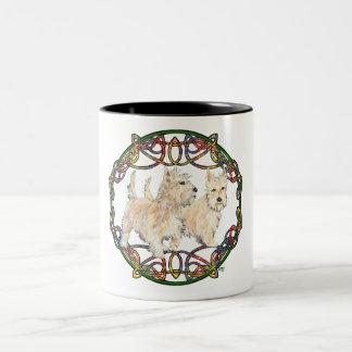 Wheaten Scottish Terriers Two-Tone Coffee Mug