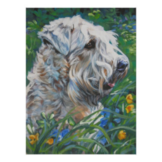 wheaten terrier art print