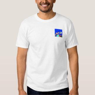 Wheaten Terrier Artist  (Blue Bkgd) T-Shirt