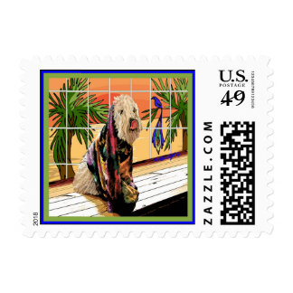 """Wheaten Terrier: """"At the Spa"""" Postage"""