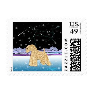 """Wheaten Terrier: """"Auspicious Sign"""" Stamp"""