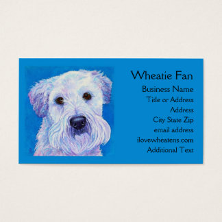 "Wheaten Terrier Business Card - ""Bailey"""