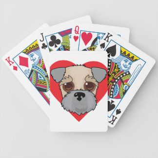 Wheaten Terrier Face Bicycle Playing Cards