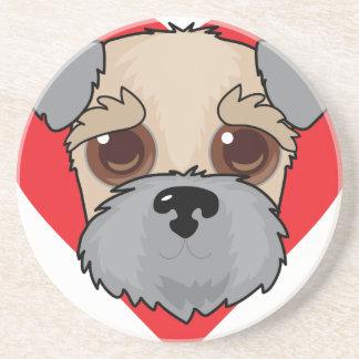 Wheaten Terrier Face Sandstone Coaster