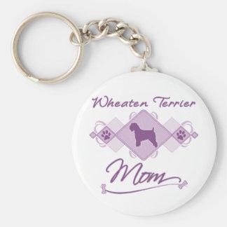 Wheaten Terrier Mom Keychain