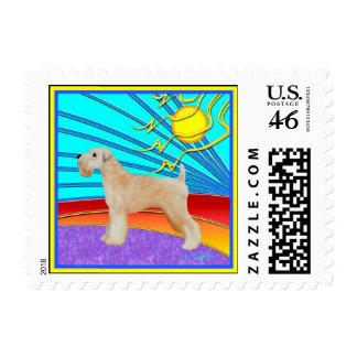 """Wheaten Terrier:  """"Our Boy"""" Postage Stamps"""