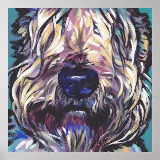 Wheaten Terrier Pop Art Print Poster