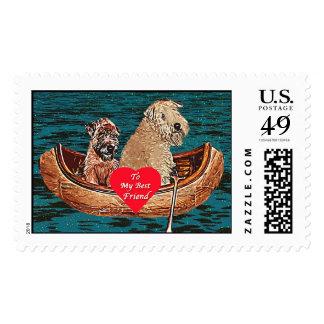 Wheaten Terrier Postage: Best Friend Postage Stamp