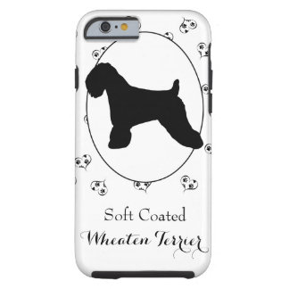 Wheaten Terrier Silhouette Hearts and Paw Prints Tough iPhone 6 Case