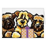 Wheaten Terrier Trio Birthday Card