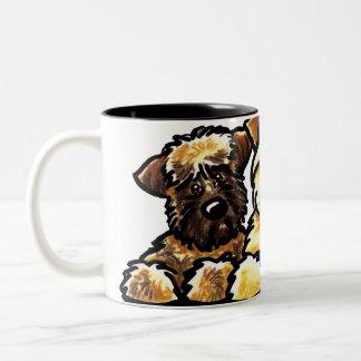 Wheaten Terrier Trio Two-Tone Coffee Mug