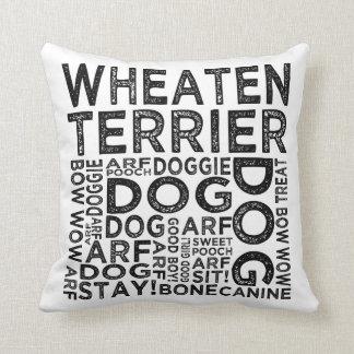 Wheaten Terrier Typography Throw Pillow