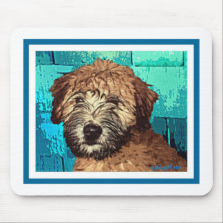 WHEATEN TERRIER: WET PUPPY MOUSE PAD
