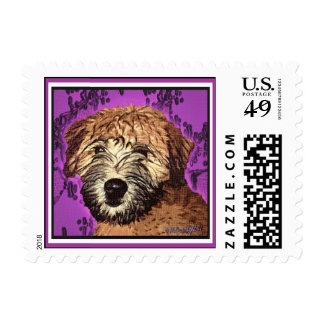 """Wheaten Terrier: """"Wet Puppy"""" Postage"""