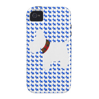 Wheaten Terrier with a Red Tartan Check Collar Vibe iPhone 4 Cover