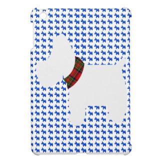 Wheaten Terrier with a Red Tartan Check Collar iPad Mini Case