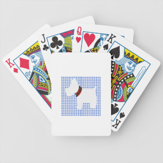 Wheaten Terrier with a Red Tartan Check Collar Deck Of Cards