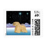 """Wheaten Terriers at Chanukah"" Stamps"