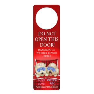 Wheaten Terriers Custom Door Hangers