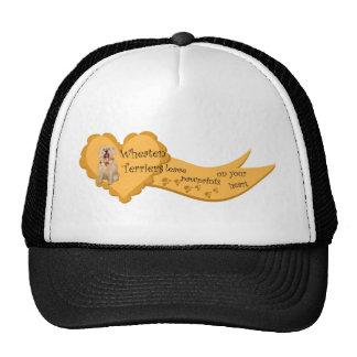 wheaten terriers pawprints trucker hat