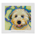 Wheatens Go Beyond Cute fun colorful dog art Poster