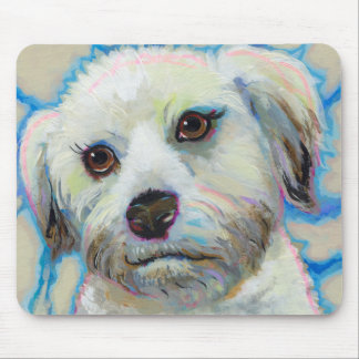 Wheatens Understand Irony fun colorful dog art Mouse Pad