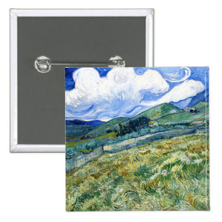 Wheatfield and Mountains, Vincent Van Gogh Pin