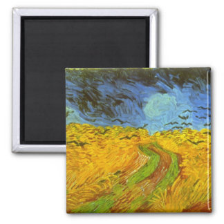 Wheatfield by Vincent van Gogh Refrigerator Magnets