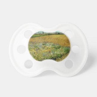 Wheatfield by Vincent Van Gogh Pacifier