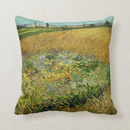 Wheatfield by Vincent Van Gogh Pillows