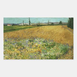 Wheatfield by Vincent Van Gogh Rectangle Sticker