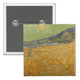 Wheatfield con el segador, 1889 pin