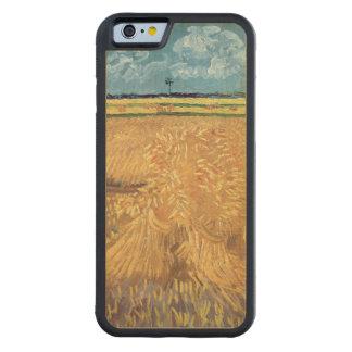 Wheatfield con las gavillas, 1888 de Vincent van Funda De iPhone 6 Bumper Arce