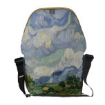 Wheatfield con los cipreses bolsa de mensajeria