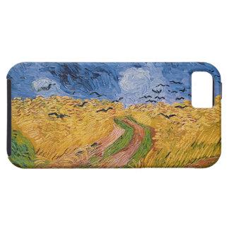 Wheatfield con los cuervos 1890 aceite en lona iPhone 5 carcasa