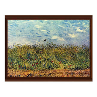 Wheatfield con una alondra de Vincent van Gogh Postal