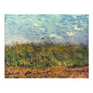 Wheatfield con una alondra de Vincent van Gogh Postales