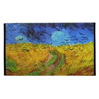 Wheatfield de Van Gogh con bella arte de los cuerv